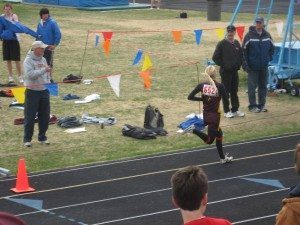 finishing 2 mile at distric track meet
