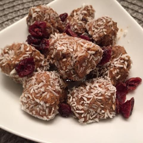 Cranberry Coconut Bliss Bites