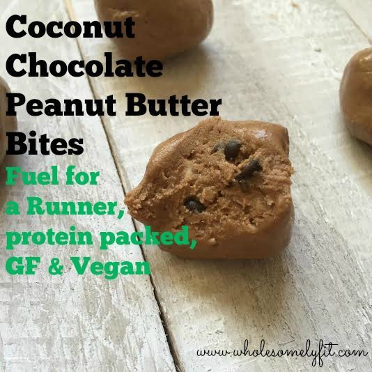 Coconut Chocolate Peanut Butter Bites